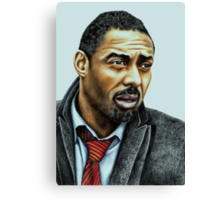 Idris Elba plays Luther Canvas Print