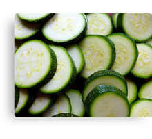Courgettes Or Zucchini.........You Choose! Canvas Print