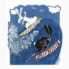 Beach Bunnies Tshirt by MiMiDesigns