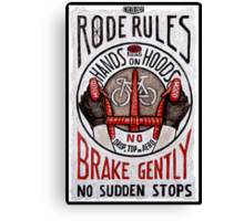 Road Rules 4 Canvas Print