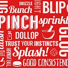 Kitchen measures typography - red by digestmag