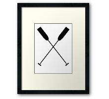 Paddles Crossed / Dragonboat Framed Print