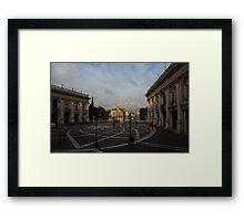 Michelangelo's Wonderful Square - Piazza del Campidoglio, Rome Framed Print