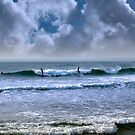 atlantic ocean storm surfing by morrbyte