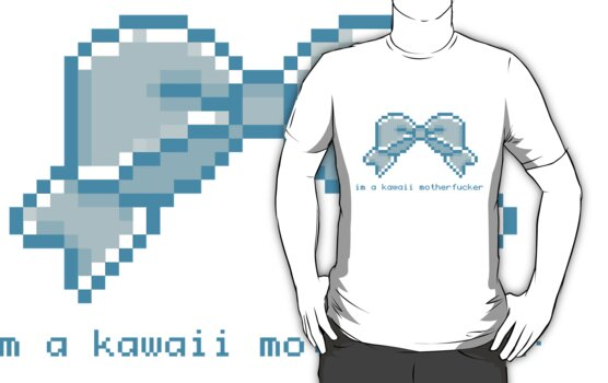 Kawaii motherfucker t-shirt LIGHT BLUE by milkjug
