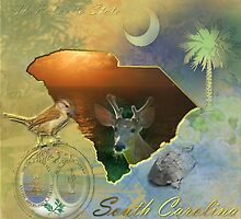 South Carolina Map by ArtByRuta