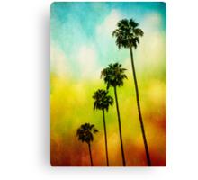 4 Palms Canvas Print