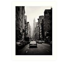 Manhattan avenue in black and white Art Print