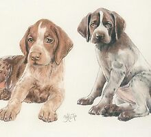 German Short-haired Pointer Puppies by BarbBarcikKeith