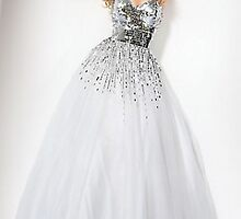 Sequin White Ball Gown by Jovani,Jovani 159499 Dresses    by jackculun