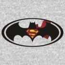 Bat/Super Man by hacklebear