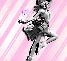 Final Fantasy XIII - Vanille [Black&White on Pink] Case by Susanwolf