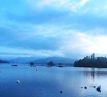 Blue Calm - Lake Windermere by Dawn B Davies-McIninch