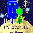 A Little Girl Green Alien - Welcome to Your New Home by Dennis Melling