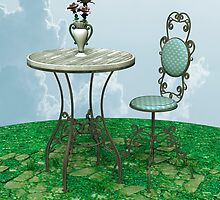 Vintage Table and Chair by Vac1