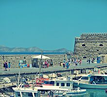 Strolling around the Venetian Harbour, Heraklion, Crete, Greece by Susan Wellington