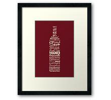 Wineography (Crimson) Framed Print