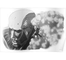 Armored Titan & Eren Poster
