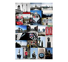 London, England - collage of multiple images Photographic Print