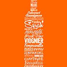 Wineography (Blaze Orange) by Robert Kobrzynski