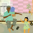 Granpa and Little Monica by Mark Padua
