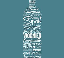 Wineography (Teal Gray) by Robert Kobrzynski
