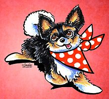 Chihuahuas Love Polka Dots by offleashart