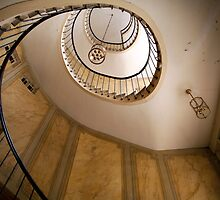 Beautiful round Stairway in Galerie Vivienne, Paris by Reinvention