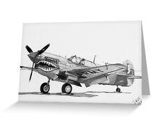 P-40 Warhawk, (Kittyhawk, Kitty bomber, Tomahawk) Greeting Card