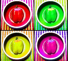 Bell Pepper Rainbow by SRowe Art