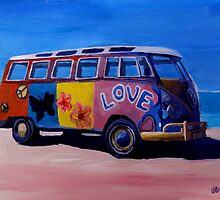 Surf Bus Series - The Love VW Bus by artshop77