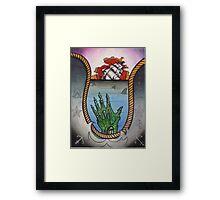 hold fast; sinking ship tattoo flash, zombie tattoo art Framed Print