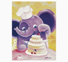 Baking - Rondy the Elephant making a delicious cake Kids Clothes