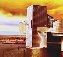 Rock And Roll Hall Of Fame - Golden Sunshine by SRowe Art