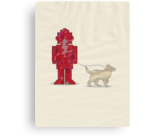 One Robot & His Dog Canvas Print