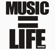 VURSAFIED - MUSIC = LIFE (BLACK) by vursafied