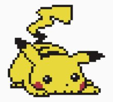 Pixel Pikachu Sprite by Flaaffy