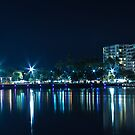 Cairns City Nightscape by Donna Rondeau