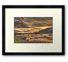 Sunset in Glencoe Framed Print