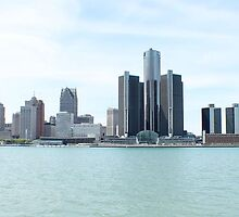 Across Detroit river from Caesars casino by karencadmanfoto
