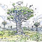 La Citta' Arborea!  by Luca Massone  disegni
