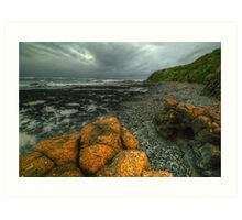 The Coast in August. Art Print