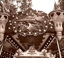 Detail of the Jules Verne Carrousel by Alex Cassels