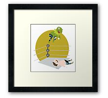 Kermit the Frogsplash Framed Print