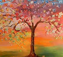 Rainbow Tree by ArtByRuta
