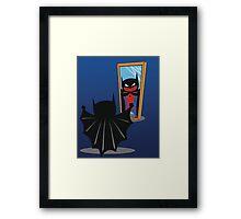 Everyone has a hero.. Framed Print