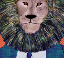 Mr. Lion's portrait Sticker