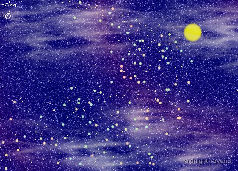 """""""night sky and fireflies"""" by midnight-raven3 