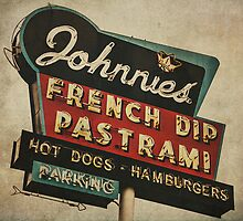 Johnnie's French Dip Vintage/Retro Sign by Honey Malek