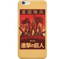 Attack on Titan Propaganda Poster iPhone Case/Skin
